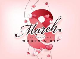 modello di banner biglietto di auguri per la giornata internazionale della donna. vettore