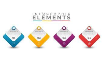 infografica aziendale impostato con testo icone colorate illustrazione vettore