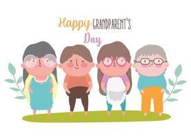 felice giorno dei nonni cartoon design vettore