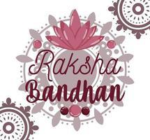felice design biglietto di auguri raksha bandhan vettore