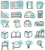 set di icone di necessità di istruzione vettore