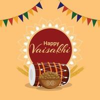 felice celebrazione vaisakhi sikh festival sfondo vettore