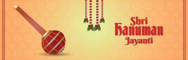 banner o intestazione hanuman jayanti vettore