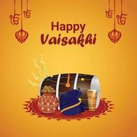 vaisakhi celebrazione del festival sikh indiano vettore