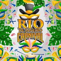 design del festival di carnevale di rio brasile vettore