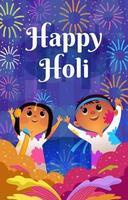 felice festa di holi della celebrazione dei colori vettore