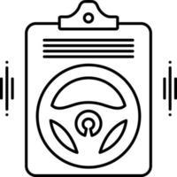 icona linea per polizza di assicurazione auto vettore