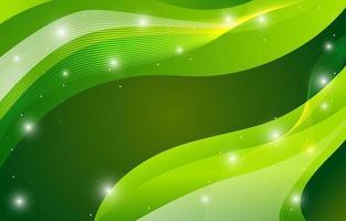 astratto sfondo verde con bella onda vettore