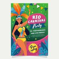 festa di samba di carnevale di rio vettore