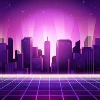futurismo retrò di paesaggio urbano vettore