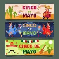 banner festival messicano cinco de mayo vettore