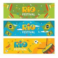 raccolta di banner festival di rio vettore
