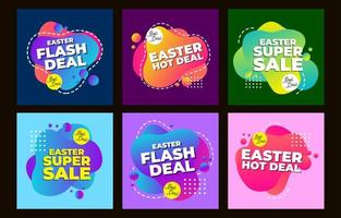 modello di post promozionale sui social media di Pasqua vettore