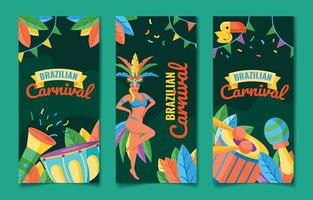collezione di banner di carnevale brasiliano vettore