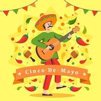 festival messicano cinco de mayo vettore