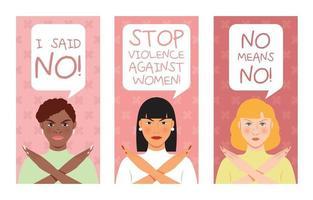 banner di sensibilizzazione per la giornata della donna vettore
