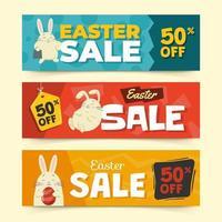 strumento di marketing banner di Pasqua vettore