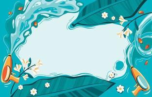 sfondo di illustrazione per il festival dell'acqua di songkran vettore
