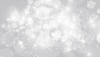 effetto luce incandescente con molte particelle di glitter sfondo isolato. vettore nuvola stellata con polvere. magiche decorazioni natalizie