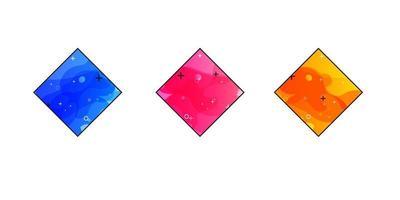 banner geometrici sfumati con forme liquide fluenti. design fluido dinamico per logo, volantini o presentazioni. sfondo vettoriale astratta