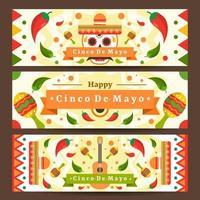 modello di banner festivo messicano cinco de mayo vettore
