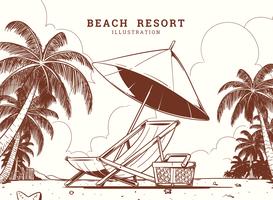 Illustrazione di Beach Resort vettore