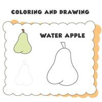 disegno colorato di mele. vettore
