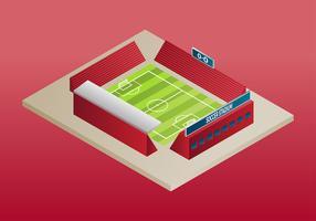 Vettore isometrico del campo di calcio