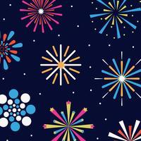 Diversi tipi di fuochi d'artificio