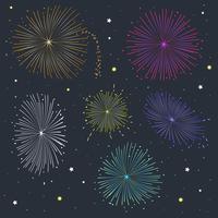 Vettore di fuochi d'artificio