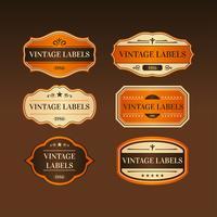 Vettore etichetta vintage