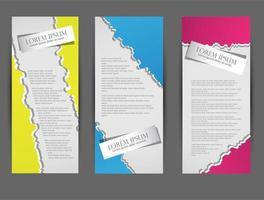 modello di brochure flyer vettore