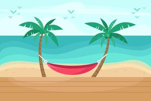 Vettore del ricorso di spiaggia
