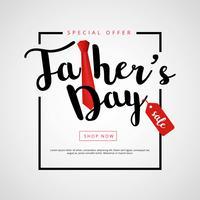 Fondo di vendita felice padri giorno