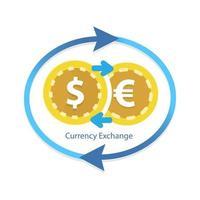 concetto di servizio di cambio valuta vettore
