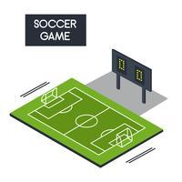 Vettore isometrico del passo di calcio