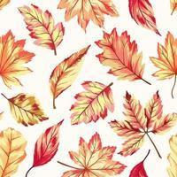 senza cuciture con foglie d'autunno vettore