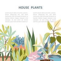 banner di piante domestiche vettore
