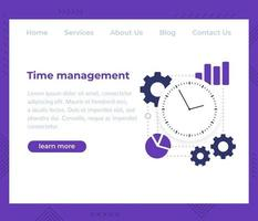gestione del tempo, template.eps di vettore del sito Web