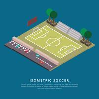 Illustrazione isometrica di vettore di calcio