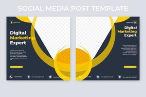 set di banner pubblicitari modificabili. modello di post sui social media di marketing digitale vettore