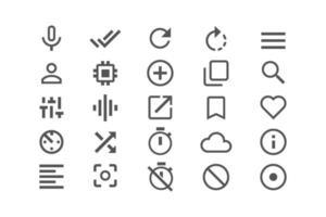 diverse icone impostano l'illustrazione vettoriale simbolo per il sito Web e l'applicazione mobile