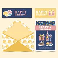 Carta di compleanno vettoriale
