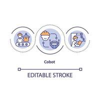 icona del concetto di robot collaborativo vettore
