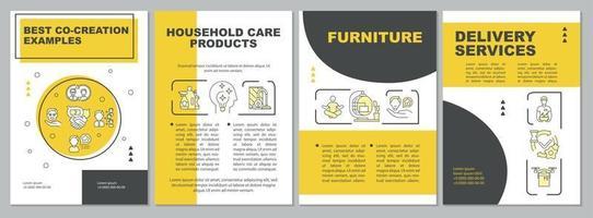 valore della cooperazione con il modello di brochure dei clienti vettore