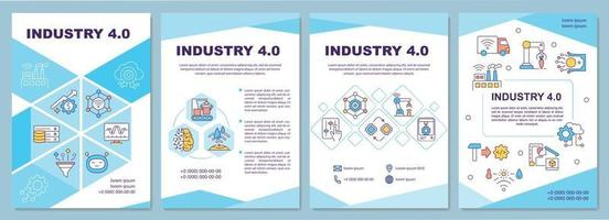 modello di brochure industria 4.0 vettore