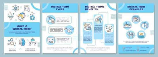 modello di brochure digital twin vettore