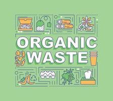 banner di concetti di parola di rifiuti organici vettore