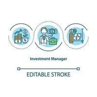 icona di concetto di gestore di investimenti vettore