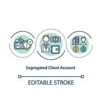 icona del concetto di account cliente segregato vettore